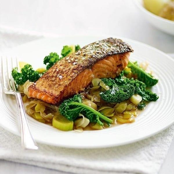 quick pan fried salmon