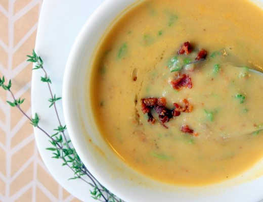 This Smoky Bacon Potato Soup is like a warm and cozy hug on a cold day.