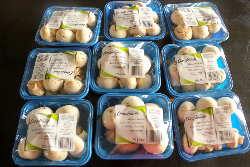 Freeze mushrooms when they're on sale. It's easy and convenient!