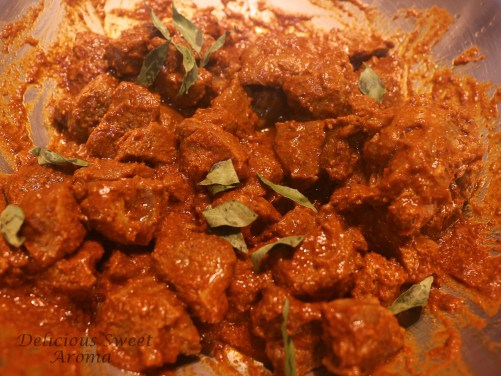 Mutton Ghee Roast with curry leaves