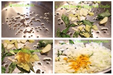 Ingredients   Seasoning for Potato bhaji   Delicious Sweet Aroma