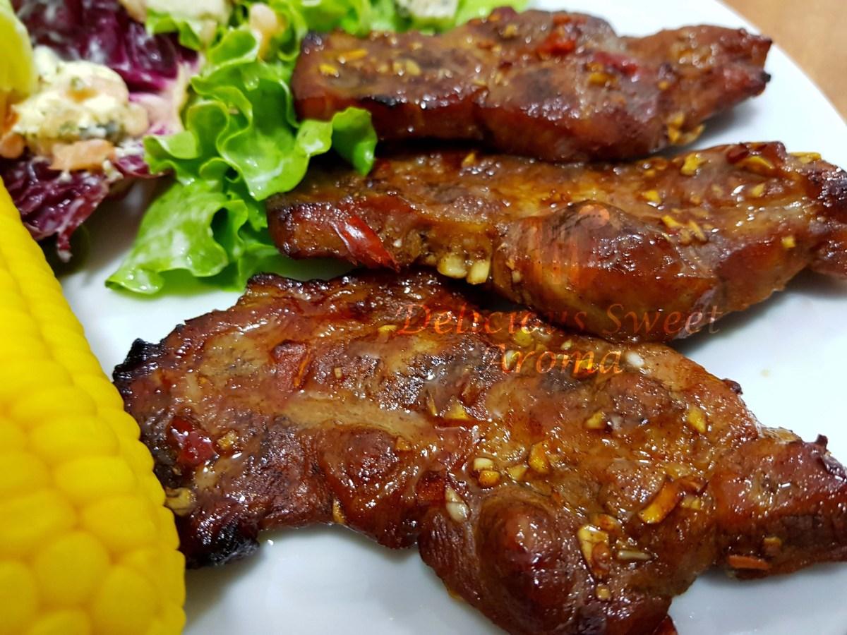 Homemade Pork steak / Chops | 45-minute Recipe | Delicious Sweet Aroma