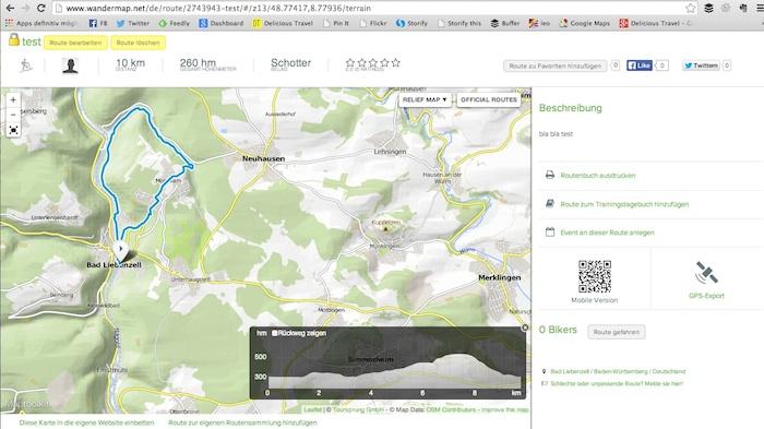 Route planen mit wandermap.net oder bikemap.de