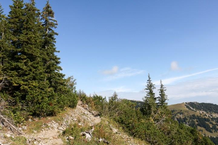 Von der Bergstation Taubenstein führt ein aussichtsreicher Weg zum Rotwandhaus