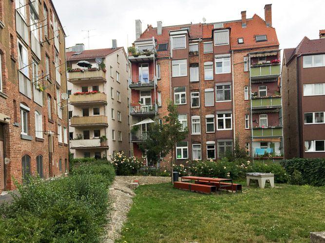 Innenhof im Stuttgarter Westen