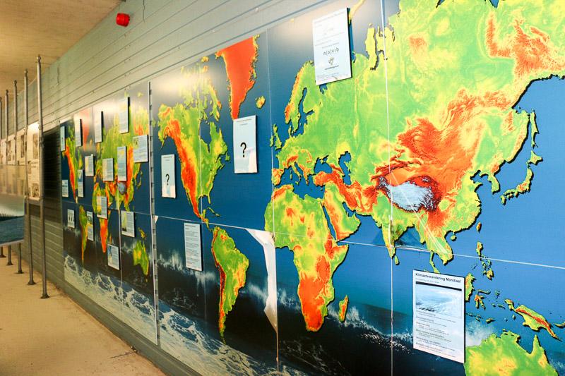 Karte Meeresspiegel Welt