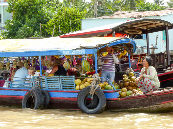 schwimmende Märkte Mekong