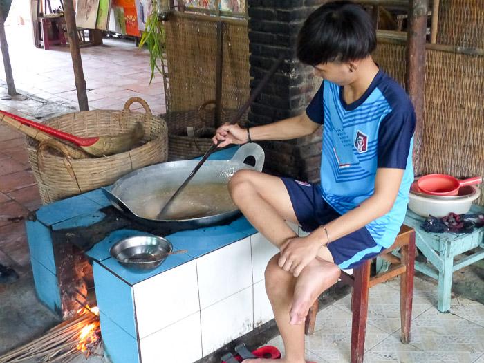 Reispapierproduktion