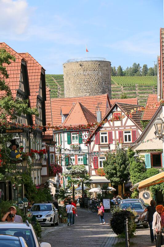 Fachwerk und enge Gassen in Besigheim