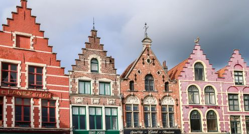 Fassaden in Brügge, Markt