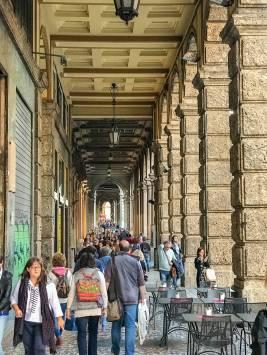 Mehr als 30 Kilometer ziehen sich die Lauben insgesamt durch Bologna.