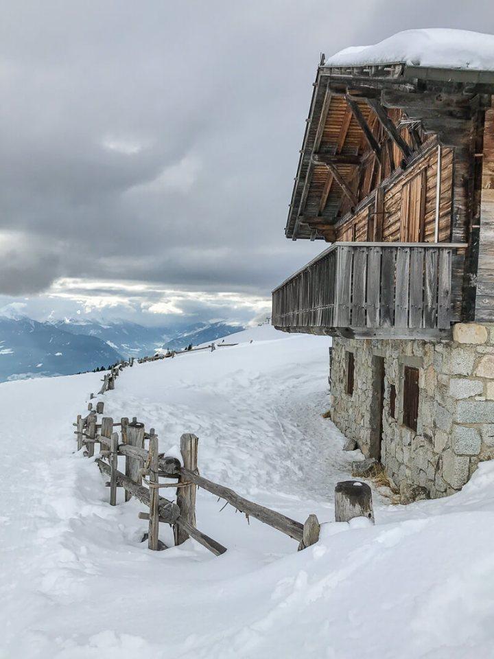 Winterwanderweg zu den Almen, Meran 2000