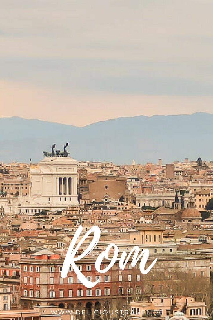 Rom für Foodies: Blick auf Rom vom Gianicolo-Hügel #Rom #Foodtour #trastevere
