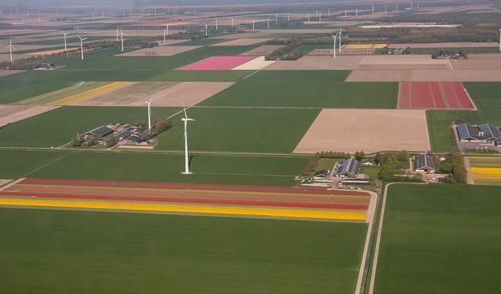 Flevoland von oben