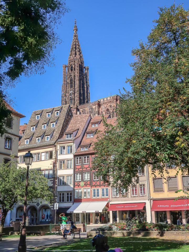 Blick auf die Strasbourger Kathedrale