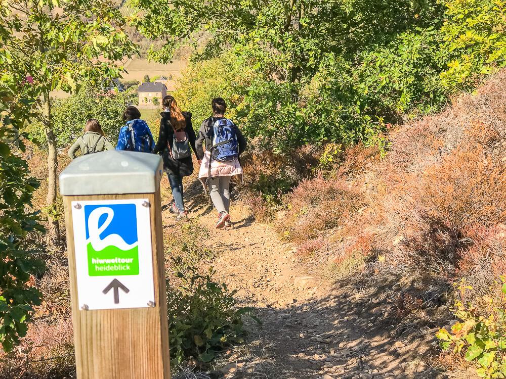 Wandern auf der Hiwwel-Tour Heideblick