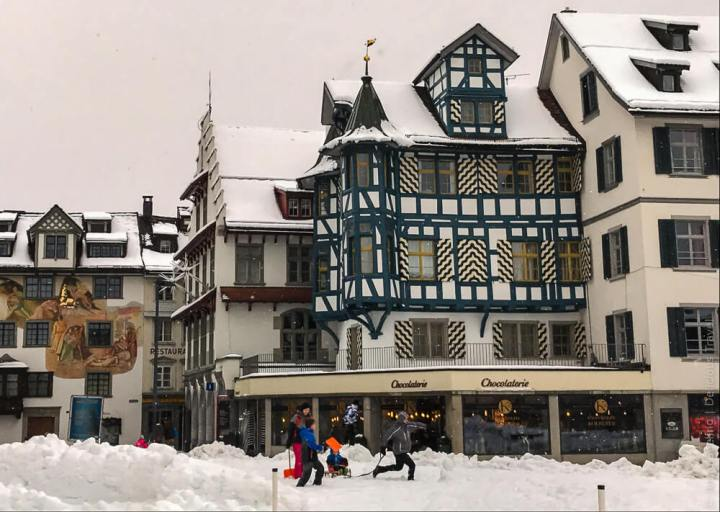 St. Gallen im Winter