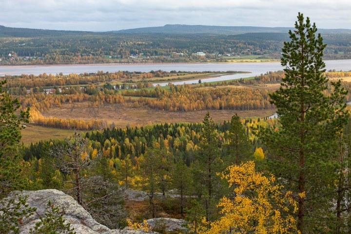 Blick vom Luppioberget auf den Grenzfluss zwischen Schweden und Finnland