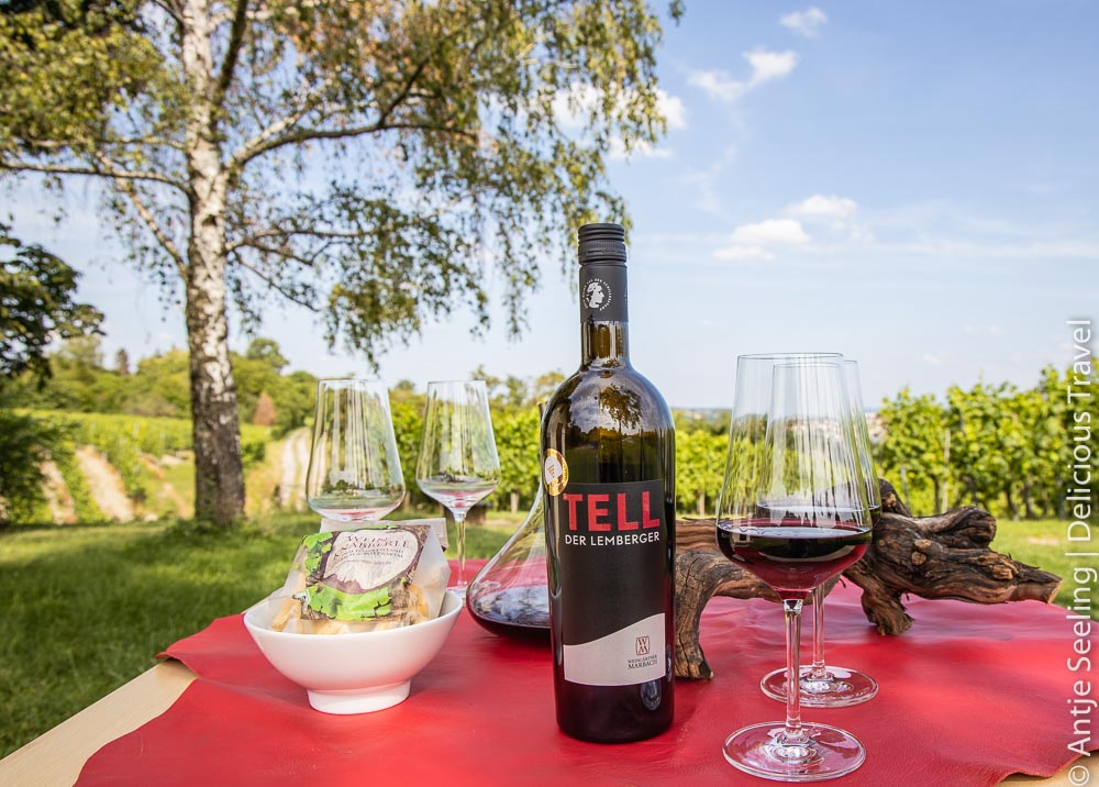 Tell, der Top-Wein der Weingärtner Marbach