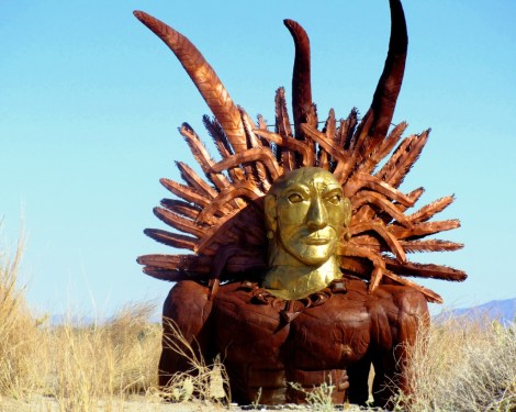 Metal sculptures by artist Ricardo Breceda dot 22 miles of roads throughout Borrego Springs