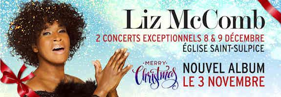 LIZ MCCOMB à Paris !  2 concerts  à Saint Sulpice où Noël va rimer avec Gospel