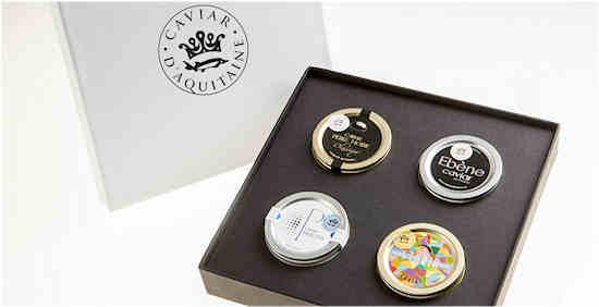 Du caviar d'Aquitaine pour les fêtes, cadeaux