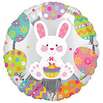 Easter Bunny Enchantment Round Balloon - 18