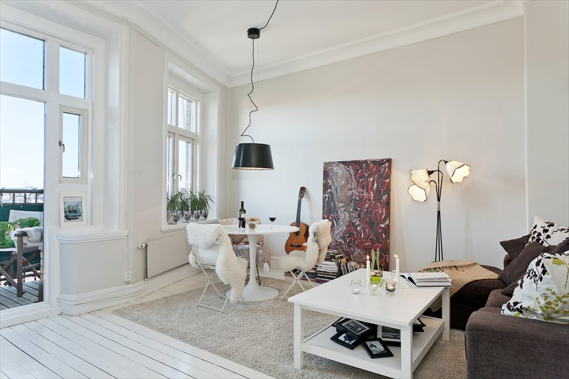 Bonita renovaci n de un piso de 45 m con vistas blog - Tirar paredes en un piso ...