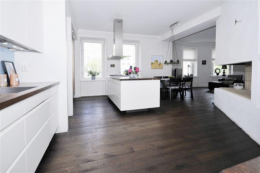 Estilo n rdico sobre suelo de madera de roble blog - Suelos para cocinas industriales ...