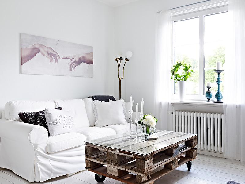 Peque o estudio decorado en blanco con contrastes blog - Como decorar un estudio ...