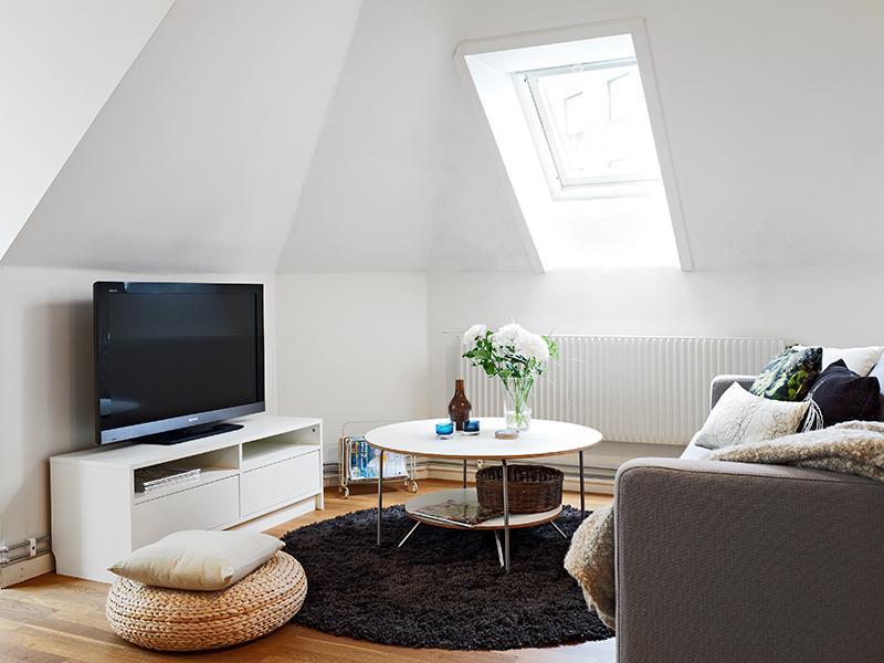 Ático de 50m² abuhardillado   blog decoración estilo nórdico ...