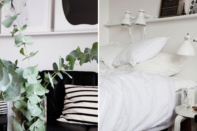 Decoraci n de un piso peque o en blanco y negro blog for Decoracion piso blanco