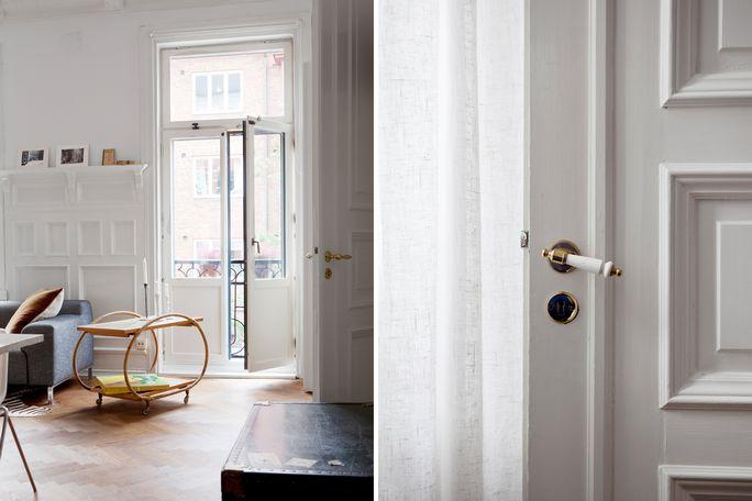Paredes paneladas y suelo espigado de madera revista hsm for Molduras para decorar puertas