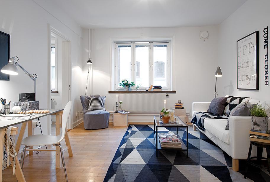 Mini Piso De 40 M2 De Estilo Escandinavo Blog Tienda Decoracion - Decorar-pisos-pequeos
