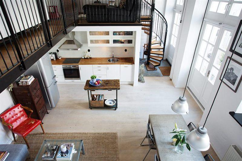 Loft De 67 M2 De Estilo Nordico Industrial Blog Tienda - Decoracion-de-loft-pequeos