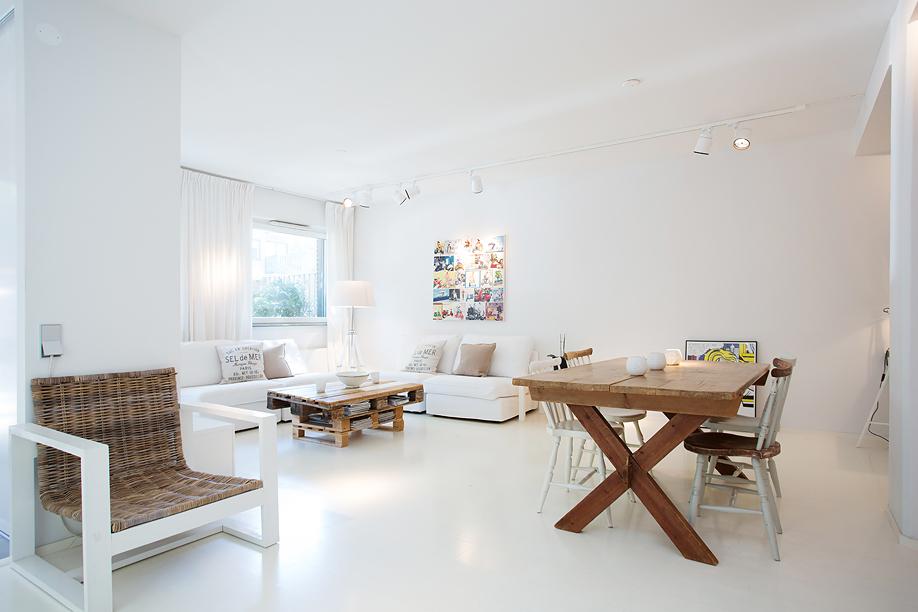 piso de estilo nrdico decorar con palets cabecero cama mesa de centro y escritorio decoracin vivienda