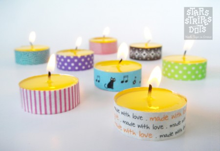 velas pequeñas de metal decoradas diy niños diy diseño y decoración diy con velas washi tape diy delo decorado diy decoración decoración mesas velas colores estampados decoración de mesas blog decoración diseño interiores diy