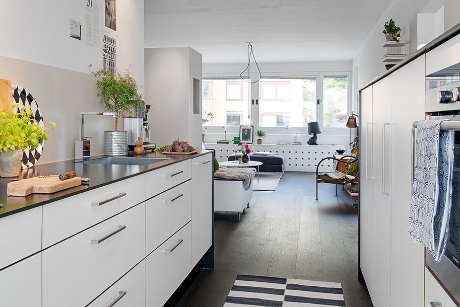 piso bien aprovechado hall integrado en el saln estilo nrdico diseo pisos sin pasillo decoracin escandinava