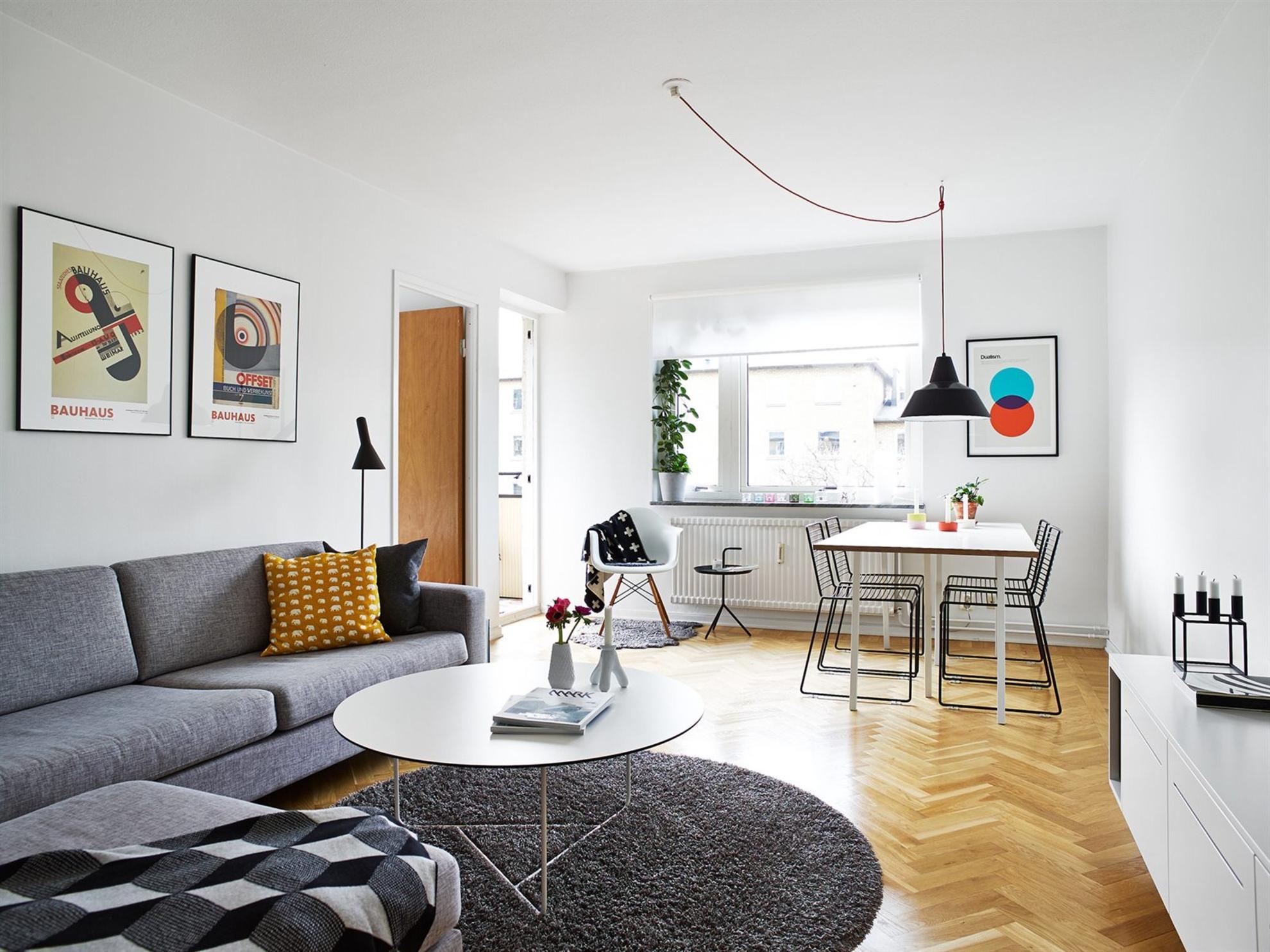 Muebles ligeros para ganar espacio visual blog tienda decoraci n estilo n rdico delikatissen - Decoracion para salon ...