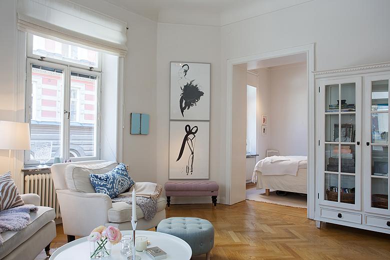 68 m sin pasillos blog tienda decoraci n estilo n rdico - Pisos decorados con encanto ...