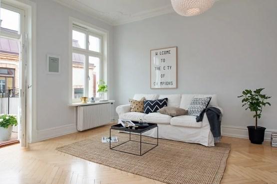 Gris y blanco siempre un acierto blog decoraci n estilo for Salones modernos para pisos pequenos