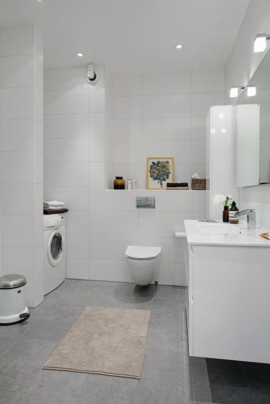 Gris y blanco siempre un acierto blog decoraci n estilo for Suelo gris y puertas blancas