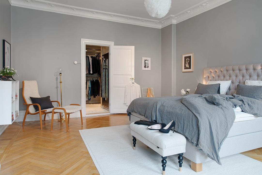 ... Walk In Closet Pisos Amplios En Gris Estilo Nórdico Escandinavo  Decoración Limpia Gris Y Blanco Decoración ...