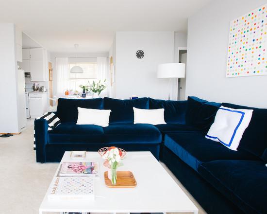 70 m en san francisco blog tienda decoraci n estilo - Combinar sofa azul oscuro ...