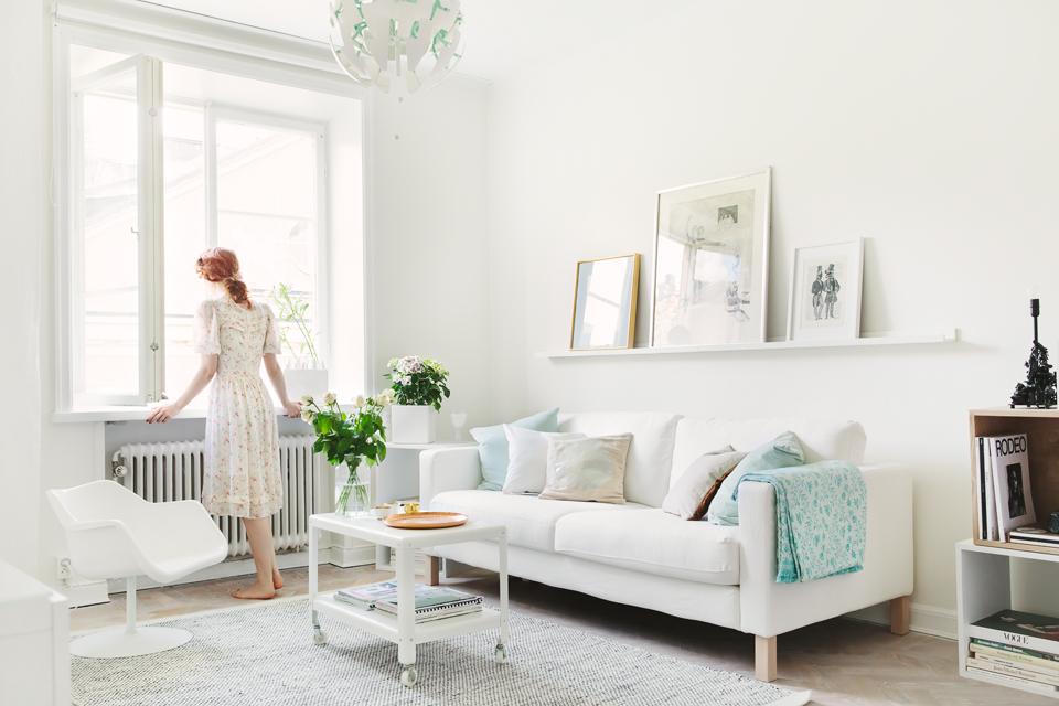 Mini piso en look total white blog tienda decoraci n for Decorar piso pequeno estilo nordico