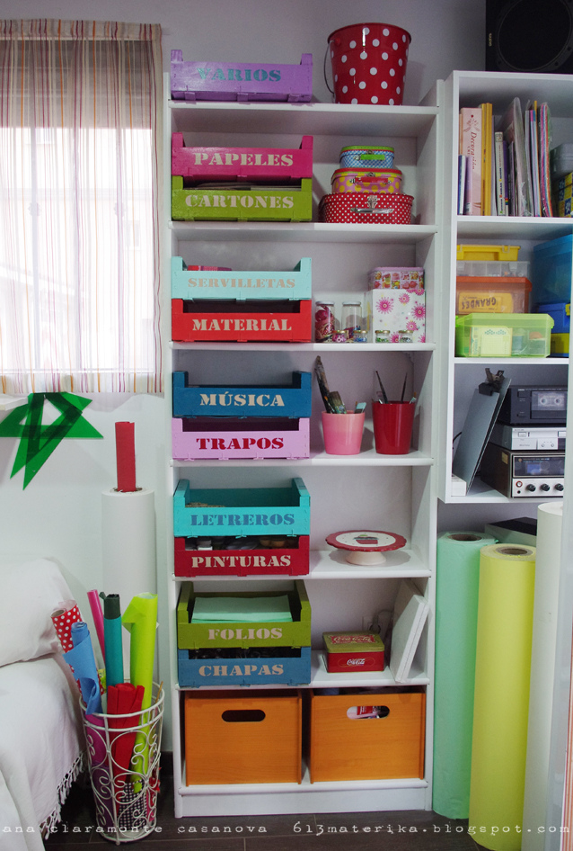 Diy organizar con cajas de fruta recicladas blog - Cajas para ordenar ...