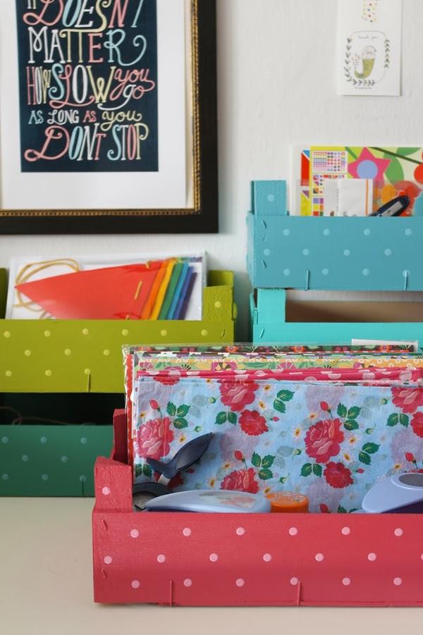 DIY - Organizar con cajas de fruta recicladas - Blog ...