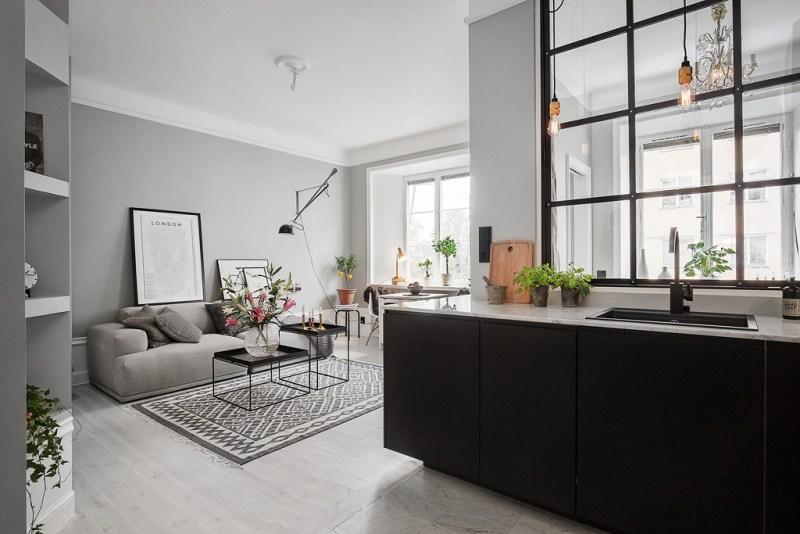 piso peque o con paredes grises blog tienda decoraci n On pisos de 50m2 decoracion