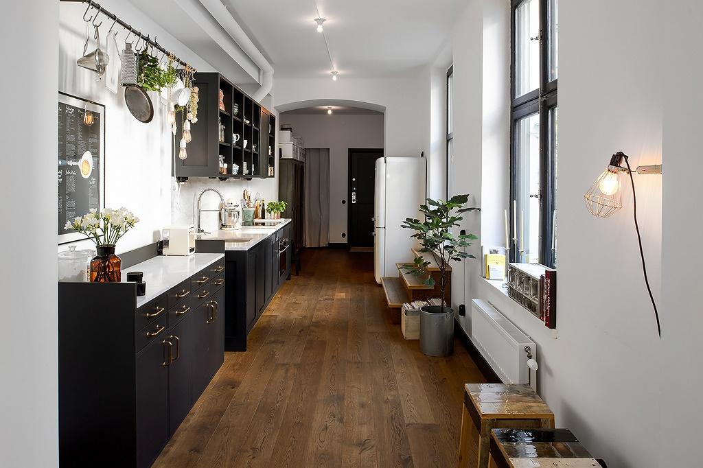 Cocina de forma rectangular Blog tienda decoracin estilo nrdico