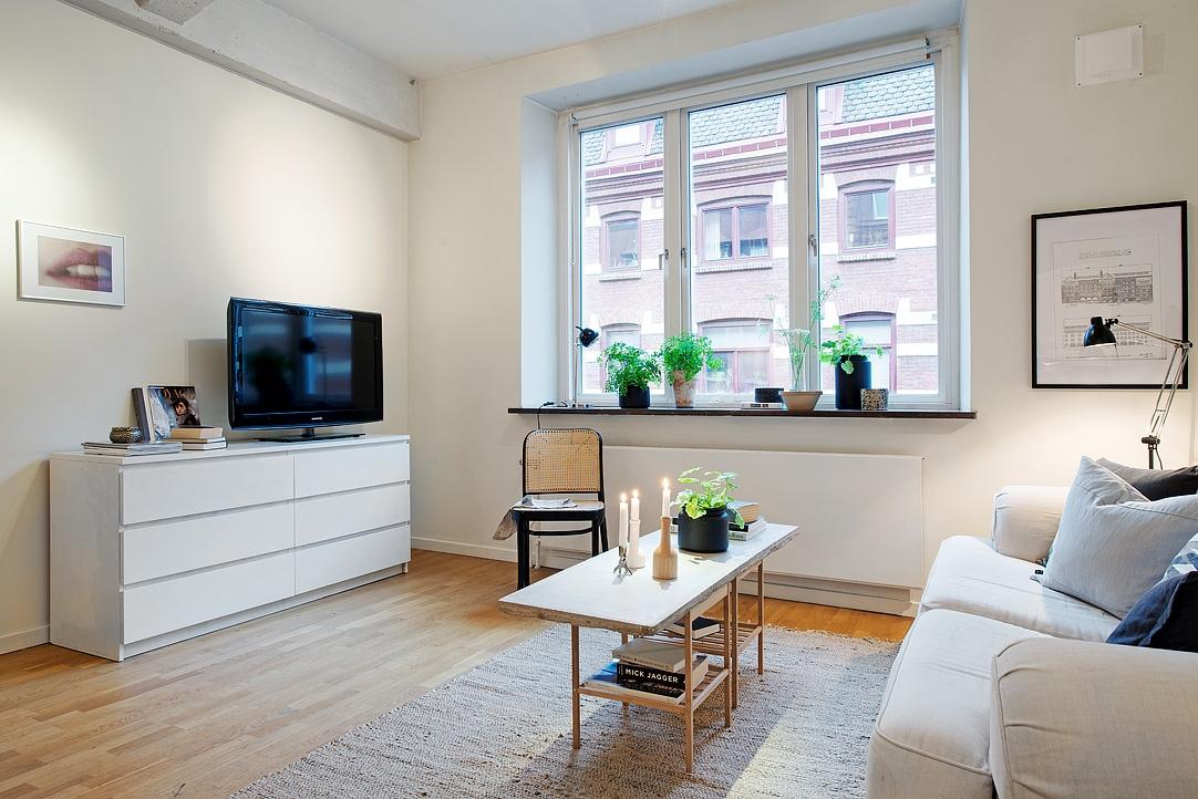 Piso peque o con amplio sal n y terraza comunitaria blog for Salones para pisos